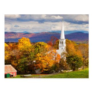 De Scène van de herfst in Peacham, Vermont, de Briefkaart