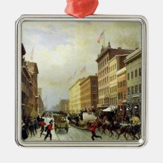 De Scène van de straat in New York Kerst Ornament