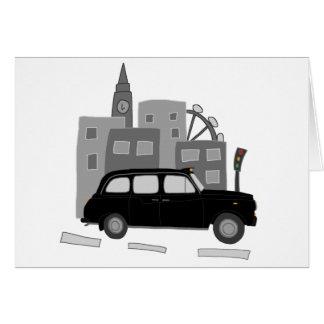De Scène van de Taxi van Londen Briefkaarten 0