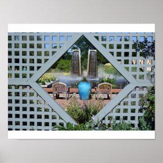 De scène van de tuin poster