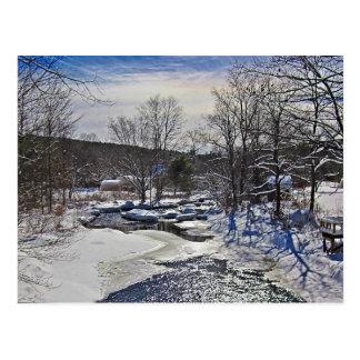 De Scène van de Winter van de Beek van de otter Briefkaart
