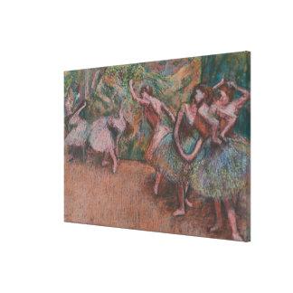 De Scène van het ballet Canvas Afdruk