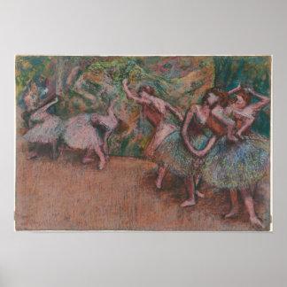 De Scène van het ballet Poster