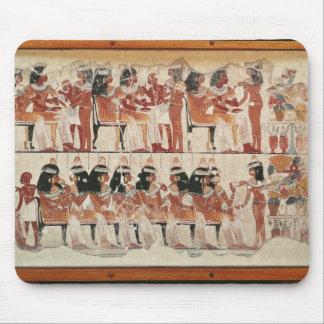 De scène van het banket, van Thebes, c.1400 BC Muismat