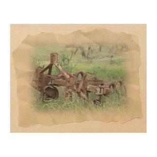 De Scène van het boerderij Houten Canvas Prints