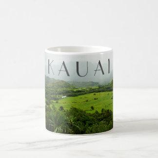 De Scène van het Landschap van Kauai, Hawaï met Koffiemok