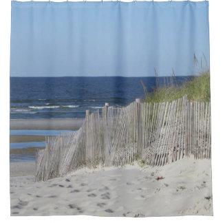 De scène van het strand douchegordijn