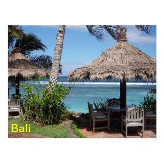 De Scène van het Strand van Bali Briefkaart