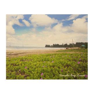 De Scène van het Strand van Kauai Hawaï van de Afdrukken Op Hout