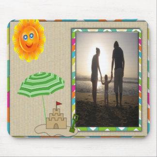 De Scène van het strand, Zon, Zand, de Sjabloon va Muismat