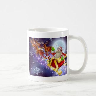 De Scène van Kerstmis van de Ar van de Kerstman Koffiemok