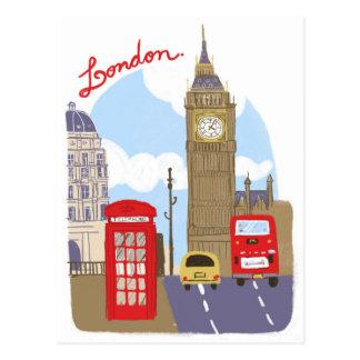 De Scène van Londen Briefkaart