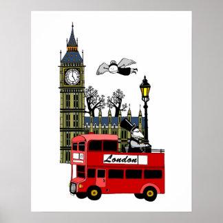 De Scène van Londen Poster