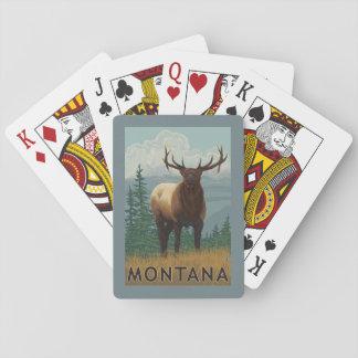 De Scène van MontanaElk Pokerkaarten