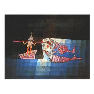 De scène van Paul Klee- Battle van grappige ` Briefkaart