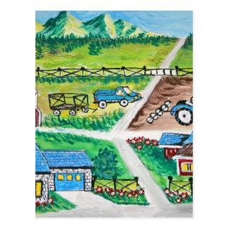 De scèneart. van het boerderij briefkaart