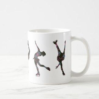 De Schaatsers van het cijfer, Roze, Grijs Patroon Koffiemok