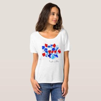 De schaduwen van Blauwe Kunstenaar ontwierpen T Shirt