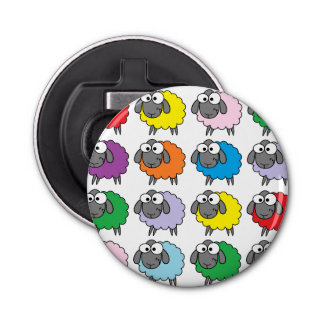 De Schapen van de regenboog Button Flesopener