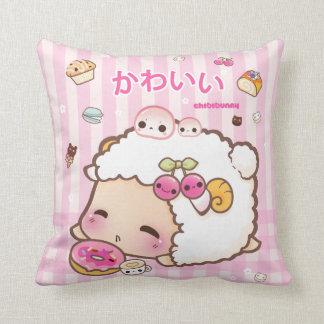 De schapen van Kawaii en leuke doughnut Sierkussen