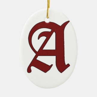 De scharlaken Brief Keramisch Ovaal Ornament
