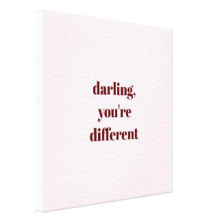 De schat, u is de Verschillende Druk van het Canvas Print