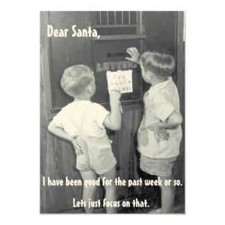 De schattige grappige vintage groet van Kerstmis 12,7x17,8 Uitnodiging Kaart