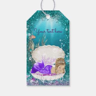 De schattige Labels van de Gift van de Meermin van Cadeaulabel