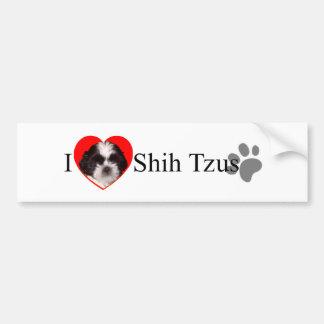 De schattige Sticker van de Bumper van Shih Tzus