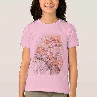 De schattige Vijf Meisjes van Eekhoorns T Shirt