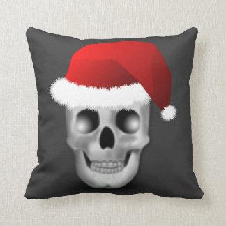 De Schedel de Kerstman van de Gothic van Kerstmis Sierkussen