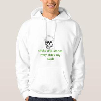 de schedel, de stokken en de stenen kunnen mijn hoodie