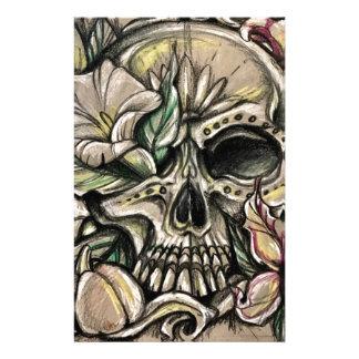 De schedel en de lelies van de suiker briefpapier