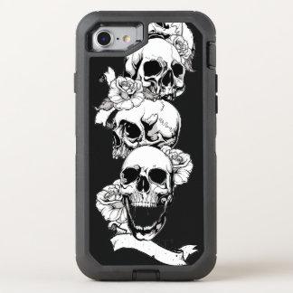 de schedel leidt vintage art. OtterBox defender iPhone 8/7 hoesje
