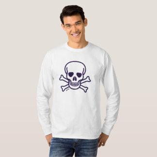 De schedel n beent lang sleeveoverhemd uit t shirt