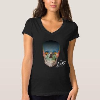 De schedel Netter op een zwarte babydoll T. T Shirt