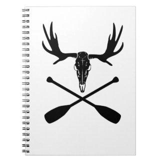 De Schedel van Amerikaanse elanden en Gekruiste Notitieboek