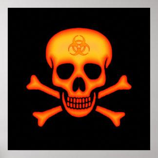 De Schedel van Biohazard & het Poster van Gekruist