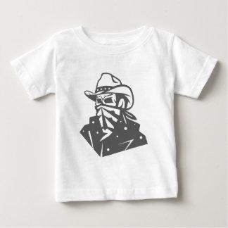 De Schedel van de cowboy met Bandana en Pet Baby T Shirts