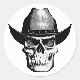 De Schedel van de cowboy Ronde Sticker