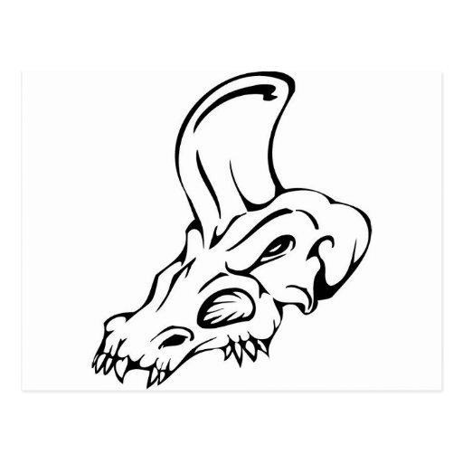 De Schedel van de dinosaurus Wenskaart