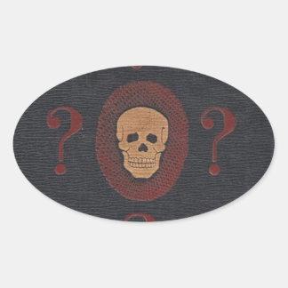 De schedel van de Geheimzinnigheid Ovale Sticker
