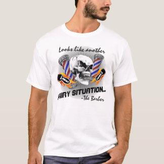 De Schedel van de kapper: Harige Situatie T Shirt