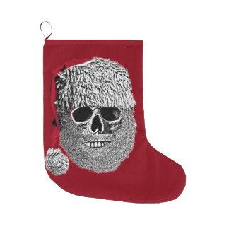De schedel van de kerstman grote kerstsok