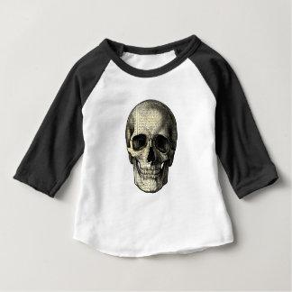 De schedel van de krant baby t shirts