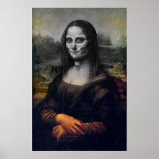 de schedel van de lisasuiker van Mona Poster