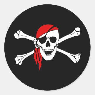 De Schedel van de piraat en de Sticker van