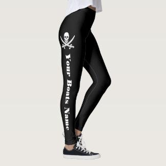 De schedel van de piraat en uw botennaam leggings