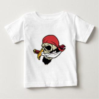 De Schedel van de piraat met Mes Baby T Shirts