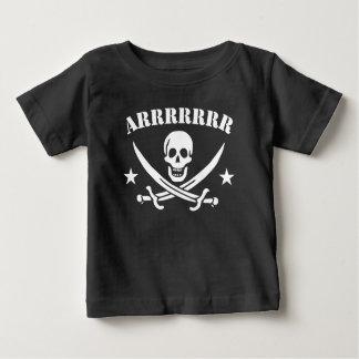 De Schedel van de Piraat van Arrrrr Baby T Shirts